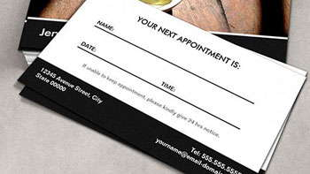 Appointment Business Cards - Toronto Print Press