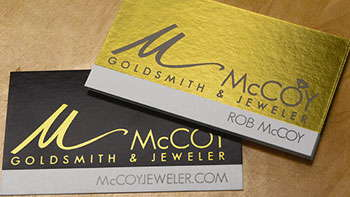 Full Colour Foil Business Cards - Toronto Print Press